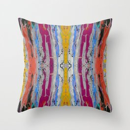 Abstract Stripe Pattern Throw Pillow