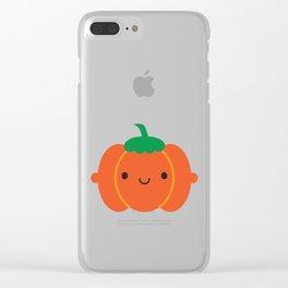Happy Halloween Pumpkin Clear iPhone Case