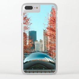 Chicago Cloud Gate Clear iPhone Case