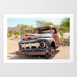 Old car, Namib Desert Art Print