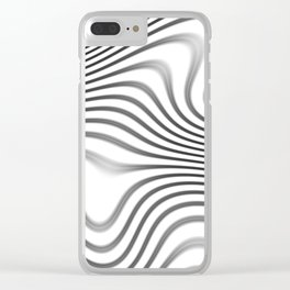 Organic Abstract 02 WHITE Clear iPhone Case