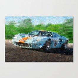 Ford GT 40, Gulf Canvas Print