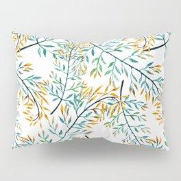Delicate leaves . Pillow Sham