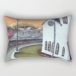 Cardiff Bay Sunset Rectangular Pillow