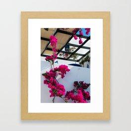 Flower house Framed Art Print