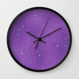Purple Night Nebula Wall Clock