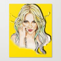 minaj Canvas Prints featuring BRITNEY YELLOWNEY by CARLOS CASANOVA