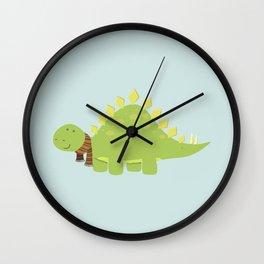 ScarfTegosaurus Wall Clock