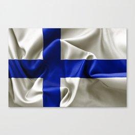 Finland Flag Canvas Print