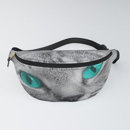 Cat with Piercing Turquoise Eyes Fanny Pack
