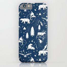 Arctic Circle - Blue iPhone Case