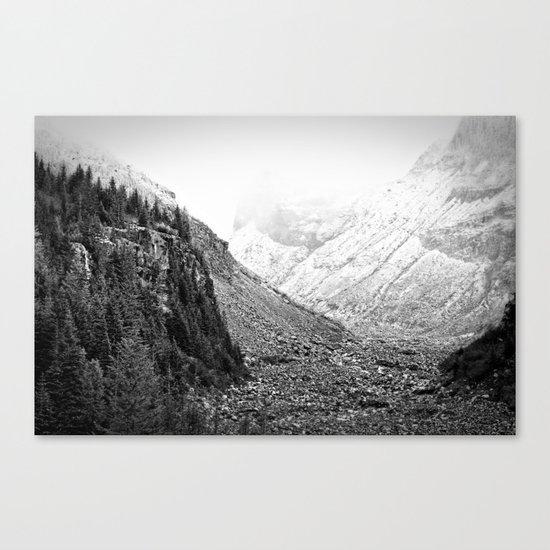 Mountain Valley Fog Canvas Print