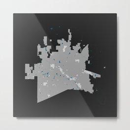 McKinney Texas Minimalist Map (Dark) Metal Print