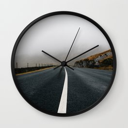 Misty Lonely Road III Wall Clock
