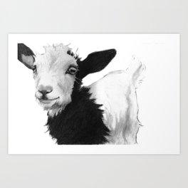 SMILE GOAT Art Print