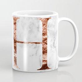 Monogram rose gold marble H Coffee Mug