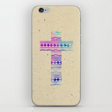 Pink Purple Aztec Pattern Cross Watercolor Paint iPhone & iPod Skin