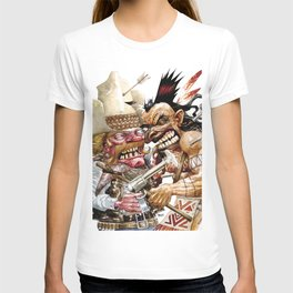 cowboy and native american T-shirt