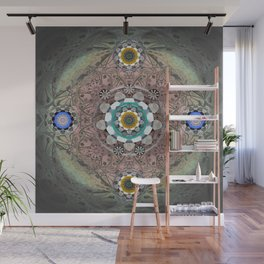 Passion and Peace Tibetan Lace Mandala Print Wall Mural
