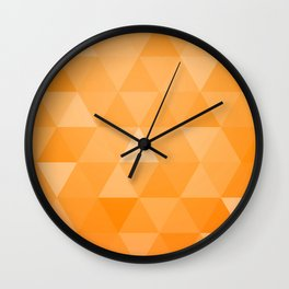 geometric 00 orange Wall Clock
