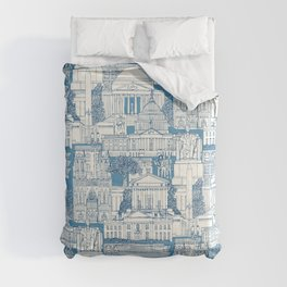 Washington DC toile blue Comforters