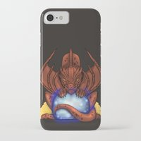 smaug iPhone & iPod Cases featuring Smaug by YattaGiulia