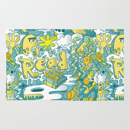 READ BOOKS LITTLE MONSTERS Rug