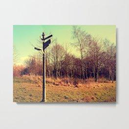 Lost Lamp Post Metal Print