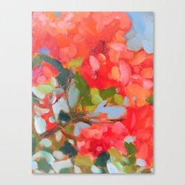 Vermillion Blooms Canvas Print