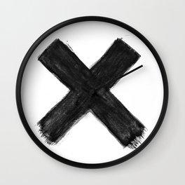 Black X Wall Clock