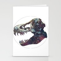 trex Stationery Cards featuring Galaxy trex by Fallen amongst the wolves