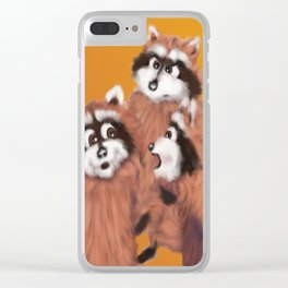 Raccoon Series: Discussion Clear iPhone Case