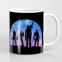 guardians of the galaxy Mugs featuring Guardians of the Galaxy - Color by Comix