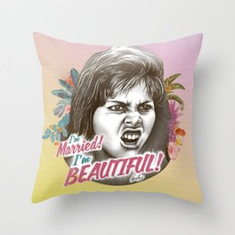 I'M MARRIED I'M BEAUTIFUL Throw Pillow