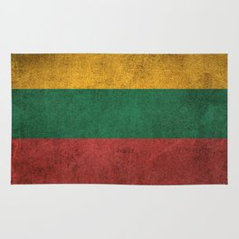 Old and Worn Distressed Vintage Flag of Lithuania Rug
