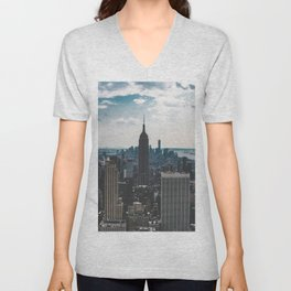 NEW YORK - CITY MANHATTAN - EMPIRE STATE BUILDING - PHOTOGRAPHY Unisex V-Neck