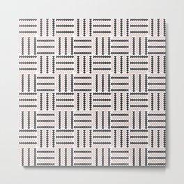 AFE Basket Weave2 Metal Print