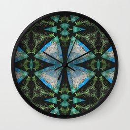 Jade Lagoons Wall Clock