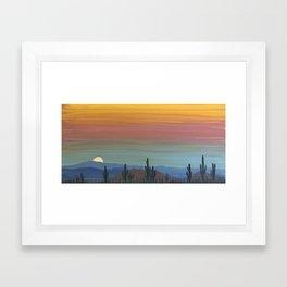 Arizona Moonrise Framed Art Print