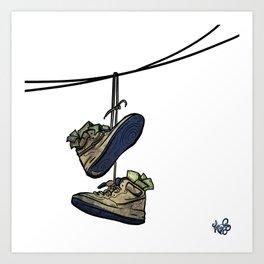 """Livin' For The City - """"Just For Kicks"""" Art Print"""