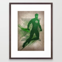 The Green Lantern Framed Art Print