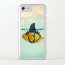 Brilliant Disguise Goldfish Clear iPhone Case