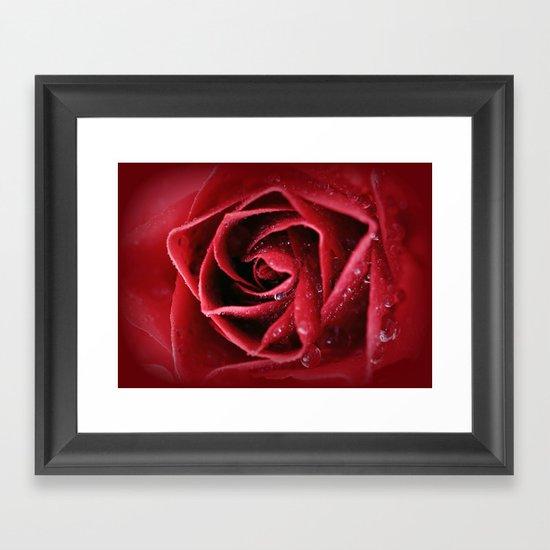Love intensely from the heart... Framed Art Print
