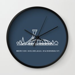 Mercier-Hochelaga-Maisonneuve, Montréal. (Qc) Wall Clock