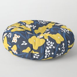 Popular floral pattern  - scandinavian style Floor Pillow
