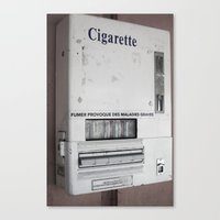 cigarette Canvas Prints featuring Cigarette by Upperleft Studios