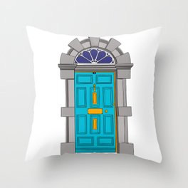 Georgian Dublin Door Throw Pillow