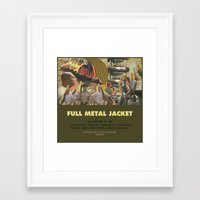 stanley kubrick Framed Art Prints featuring Full Metal Jacket - Stanley Kubrick by Smart Store