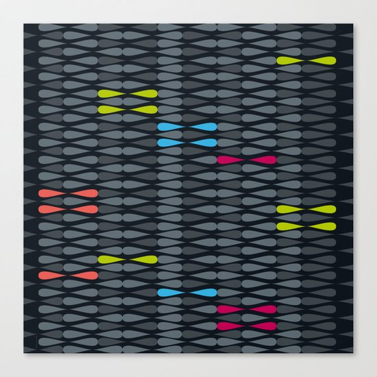 dropsstripes Canvas Print