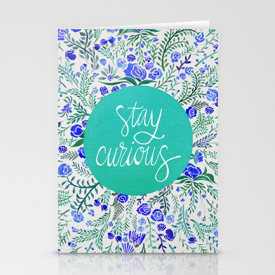 Stay Curious – Navy & Turquoise Stationery Cards